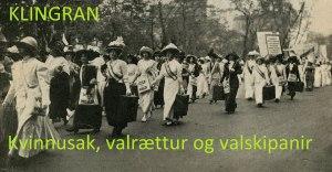 Valrættur og valskipanir - Altjóða kvinnudagur 2015